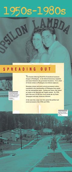 Section intro panel: 1950s - 1980s Spreading Out (click through for online exhibition)