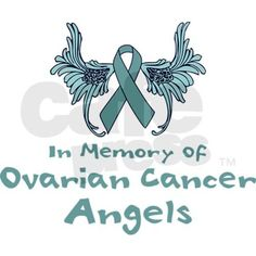 images of ovarian cancer stickers | Ovarian Cancer Angels Rectangle Sticker by trendyboutique