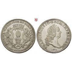 Augsburg, Reichsstadt, Konventionstaler 1765, ss-vz: Konventionstaler 1765. Mit Titel Franz I. Pyr in barocker Einfassung unter… #coins