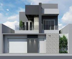 A imagem pode conter: casa, céu e ar livre Dream House Exterior, Exterior House Colors, House Paint Exterior, Exterior Design, House Front Wall Design, House Gate Design, Independent House, Minimalist House Design, Modern House Design