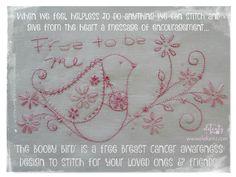 O pássaro Booby - padrão livre para a consciência do cancro da mama ...