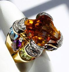 High Jewelry, Luxury Jewelry, Stone Jewelry, White Diamond Ring, Champagne Diamond, Antique Jewelry, Vintage Jewelry, Ring My Bell, Pink Tourmaline Ring