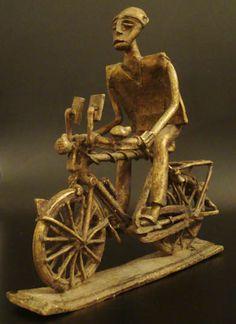 Lost-Wax Brass African Rider #545 | Figures | Metal — Deco Art Africa - Decorative African Art - Ethnic Tribal Art - Art Deco