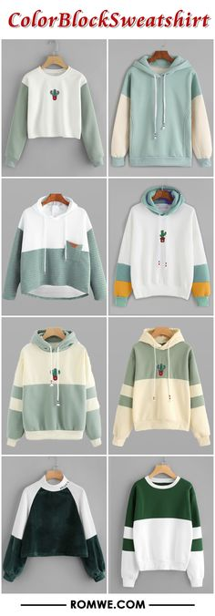 fall & winter color block sweatshirt