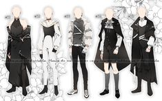 [OPEN]Adoptable Costumes by Pinkboxoxo on DeviantArt Manga Clothes, Drawing Anime Clothes, Anime Outfits, Cool Outfits, Vetements Clothing, Clothing Sketches, Fashion Design Drawings, Character Outfits, Costume Design