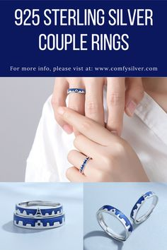 These are beautiful designs of finest 925 sterling silver couple rings, perfect for the gift-giving occasion to gift these rings to your life partner or your close ones who are in love 💖💖💖 For more info, visit at www.comfysilver.com #925sterlingsilver #silvercouplerings #couplerings #couplegift #silverrings #anniversarygift Promise Rings For Couples, Couple Rings, Silver Bands, Anniversary Gifts, Class Ring, Jewelry Gifts, Great Gifts, Engagement Rings, Sterling Silver