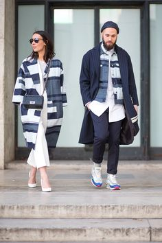 All the cliches hold true: two are better than one, three is a crowd, birds of a feather and all that. Let's add one and see if it sticks: a street style photo is always stronger if you have a chic friend to coordinate with. - HarpersBAZAAR.com