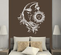 Wall Decals Sun And Moon Crescent Ethnic Dual Symbol Stars Night Sunshine Decal Vinyl Sticker Home Decor Bedroom Art Mural Dear Buyers, Welcome to