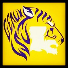 LSU acrylic painting inspiration - this needs to be a bumper sticker!