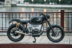 BMW cafe racer restomod by Analog Motorcycles Triumph Chopper, Sportster Chopper, Chopper Motorcycle, Scrambler Motorcycle, Bmw Motorcycles, Motorcycle Style, Custom Motorcycles, Bmw Motorbikes, Motorcycle Design