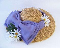 Dev Kurdeleli Hasır Şapka - http://kendinyapblogu.com/dev-kurdeleli-hasir-sapka/
