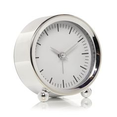Wilko Small Alarm Clock Silver at wilko.com