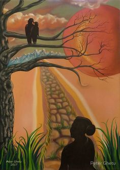 'Bird Watcher' by Peter Ghetu Oil On Canvas, Canvas Art, Canvas Prints, Art Prints, Love Painting, Art Boards, Saatchi Art, Original Paintings