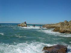 Le rocher de la Vierge à Biarritz