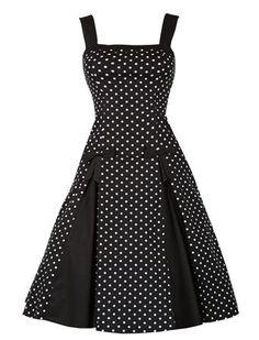 aaab258217e Robes rétro vintage · Sommer Polka - Rockabilly Clothing - Online Shop für  Rockabillies und Rockabellas Robe Genoux