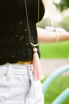 We love the tassel trend and so does our latest Chic of the Week.
