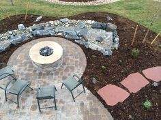 New Construction Back Yard Landscape Services, New Construction, Garden Landscaping, Stepping Stones, Backyard, Snow, Gardening, Outdoor Decor, Stair Risers