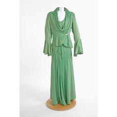 Green Evening Dress , 1930