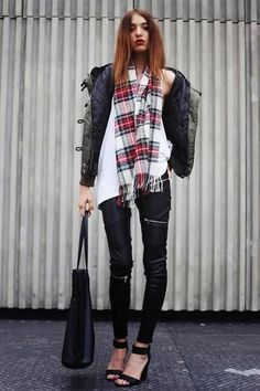 Best Outfit Ideas For Fall And Winter  30 ways to wear leather pants this fall/