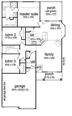 images about Houses on Pinterest   Curb Appeal  House plans    Three Bedroom Craftsman under   Sq  Ft   HWBDO     Prairie House