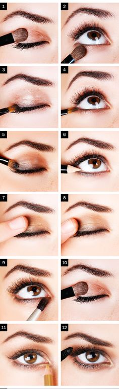 Smokey Eyes Tutorial: Bronze Smokey EyeBronzes, coppers, and light browns make for a sultry date-night look and work on any eye color.