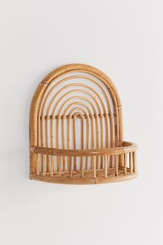 Shop Rattan Arc Wall Shelf at Urban Outfitters today. Rattan Daybed, Rattan Furniture, Dream Furniture, Circle Shelf, Wicker Shelf, Under Stairs, Wall Shelves, Hanging Shelves, Diy Hanging