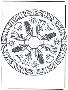 Mandala Mandala Mandala Coloring Pages Mandala Coloring Pages, Coloring Pages For Kids, Coloring Sheets, Adult Coloring, Colouring, Mandala Nature, Paisley Color, Bird Crafts, Surf Art