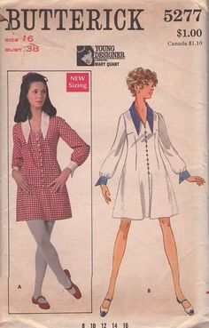 ©1969 Butterick5277 Mary Quant design