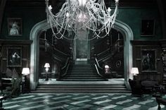 Decoration : Gothic Theme Luxury Home Interior With Awesome White Chandelier Two Side Stairs And Elegant Decorative Table Lamp In Luxury Gothic Home Decor Find Traditional and Dramatic In Gothic Theme Decoration Lanterns. Gothic Interior, Gothic Home Decor, Interior Design, Interior Decorating, Slytherin House, Hogwarts Houses, Slytherin Pride, Ravenclaw, Gothic House