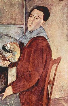 1919.Amedeo Modigliani.  Self-portrait.Museu de Arte Contemporânea da Universidade de São Paulo.