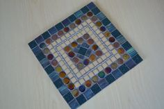 Mosaic Trivet 8x8-inch Square Bold and Dramatic by gcbmosaics