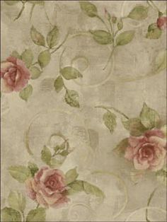 Roses Wallpaper   Brand:Seabrook Wallpaper  Book: Harmonious  Item #:WTG-086875