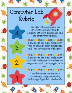 TCE Computer Lab: Computer Lab Rubrics!