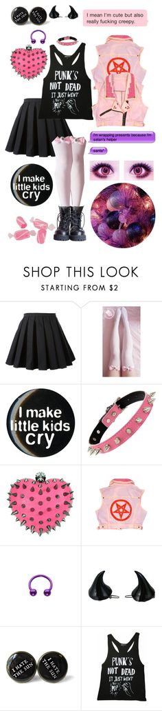 """""""Lilliane Hime"""" by sw-13 ❤ liked on Polyvore featuring Balmain, Kreepsville 666 and Black Score"""