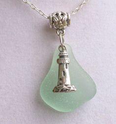 Sea Glass Necklace Sea Glass Jewelry Aqua by beachglassgonewild, $24.95