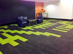 Interface Skinny Planks Carpet Design, Floor Design, Tile Design, Carpet Tiles, Carpet Flooring, Flooring Ideas, Planks, Interface Design, Office Interiors