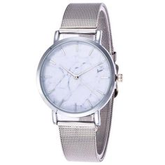 RoseWholesale - Rosewholesale Steel Mesh Band Marble Face Watch - AdoreWe.com