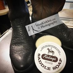 I #love #cleaning my #boots these are #exotic #leathers #elephant hide #tonylamaboots #saddlesoap #leathercraft #snowproof #westphd #westkirkley #cowboy #cowboyboots