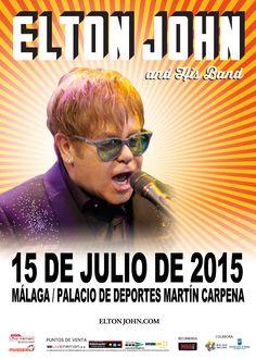 ELTON JOHN, 15 de julio 2015 - Málaga