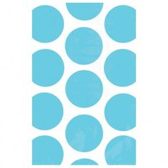 Turquoise Polka Party Treat Bags