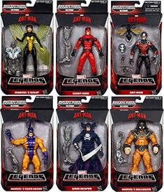 Antman Marvel Legends Giant Man Grim Reaper Wasp Bulldozer Ant Man Tigershark Action Figures Wave 1 Set of 6 -- You can get more details by clicking on the image.