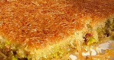 kataifi with pistachios Greek Recipes, Desert Recipes, Food Network Recipes, Cooking Recipes, Greek Sweets, Arabic Food, Betty Crocker, Quiche, Oven