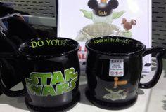 Coolest mug ever! Has a little YODA face inside on the bottom! Disney Star Wars Yoda Coffee Mug $28