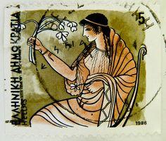 stamp Hellas Greece Old Stamps, Vintage Stamps, Stamp World, Postage Stamp Design, Envelope Art, Greek Art, Fauna, Stamp Collecting, My Stamp