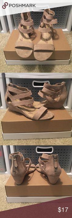 American Rag Heels- GREAT Condition! Tan suede wedge heels   In great condition   Zipper back American Rag Shoes