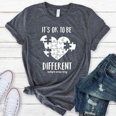 Autism Shirt Autism Awareness Shirt Autism t-shirt Autistic Autism Shirts, Autism Awareness Shirts, Teacher Shirts, Teacher Outfits, Quality T Shirts, Trends, Shinee, Shirt Style, Shirt Designs