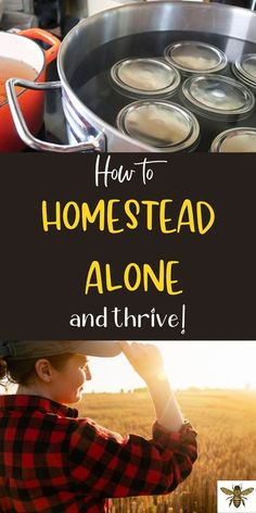 """Is it possible to homestead by yourself? Maybe you're single, divorced or widowed and you want to provide for yourself, but can it be done alone? Check out """"How to Homestead Alone and Thrive"""" for sound advice and tips to succeed as a homesteader! #homesteadalone #singlehomesteader Homestead Survival, Survival Tips, City Farm, Urban Homesteading, Grow Your Own Food, Preserving Food, Lifestyle Changes, Way Of Life, Alone"""