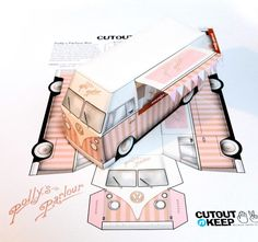These are amazing and certainly better than the VW Camper Cutout we feature some time ago. This is such a cool set of products that can be enjoyed by both adults and kids and seeing as we are big kids, we are ordering a couple. These are the creations of Cutout-n-Keep who's produce detailed replica paper craft models for you ... Read More