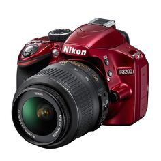 NIKON D3200 RED W/18-55VR 33856