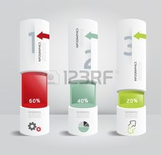 infographic template Modern box cylinder Design Minimal style   can be used for infographics   numbered banners   horizontal cutout lines  photo